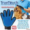 True touch gromming glow Dog and coat دستکش ترو تاچ برای ماساژ و جمع کردن موی سگ و گربه